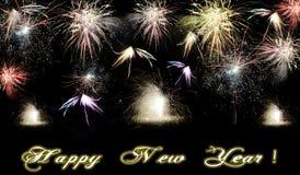 Fuegos artificiales de la Feliz Año Nuevo 2015 Fotos de archivo libres de regalías