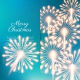 Fuegos artificiales de la Feliz Navidad Fotos de archivo