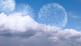 Fuegos artificiales de la luz del día Fotos de archivo
