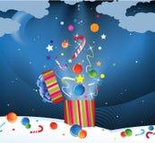 Fuegos artificiales de la Navidad Fotos de archivo libres de regalías