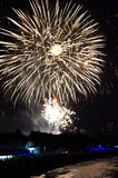 Fuegos artificiales de la playa de Varna Imágenes de archivo libres de regalías