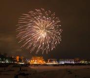2015 fuegos artificiales de la víspera del Año Nuevo Imagen de archivo libre de regalías