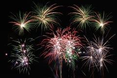 Fuegos artificiales de las estrellas y de las rayas Foto de archivo libre de regalías