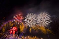 Fuegos artificiales de Londres Foto de archivo libre de regalías