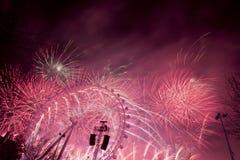 Fuegos artificiales de Londres Foto de archivo