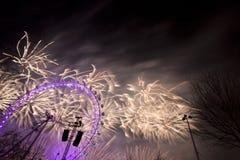 Fuegos artificiales de Londres Imagen de archivo