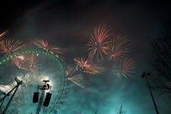 Fuegos artificiales de Londres Fotografía de archivo