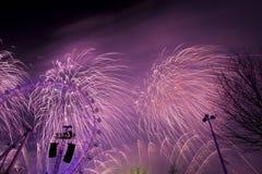 Fuegos artificiales de Londres Imagenes de archivo