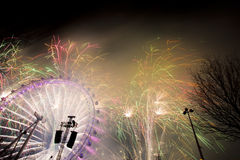 Fuegos artificiales de Londres Fotografía de archivo libre de regalías