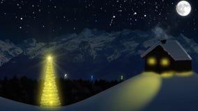 Fuegos artificiales de Nochevieja con 2015 luces stock de ilustración