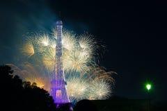 Fuegos artificiales de París Fotos de archivo libres de regalías
