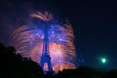 Fuegos artificiales de París Fotos de archivo