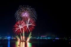 Fuegos artificiales de Pattaya Imagen de archivo libre de regalías