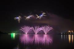 Fuegos artificiales de Putrajaya Fotografía de archivo libre de regalías