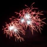 Fuegos artificiales del Año Nuevo 2012 Imagen de archivo libre de regalías