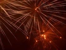 Fuegos artificiales 2014 del Año Nuevo Foto de archivo libre de regalías