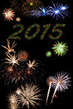2015 fuegos artificiales del Año Nuevo Fotos de archivo