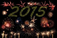 2015 fuegos artificiales del Año Nuevo Foto de archivo libre de regalías