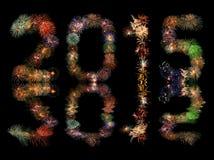 Fuegos artificiales del Año Nuevo 2015 Fotografía de archivo libre de regalías