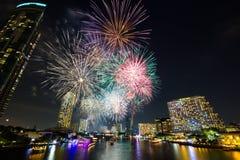 Fuegos artificiales del Año Nuevo Imagenes de archivo