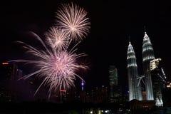 2016 fuegos artificiales del Año Nuevo Imagen de archivo