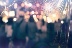 Fuegos artificiales del Año Nuevo Amor Fotos de archivo libres de regalías
