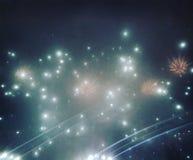 Fuegos artificiales del Año Nuevo de Bucarest foto de archivo