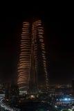 Fuegos artificiales del Año Nuevo de Dubai Imagenes de archivo