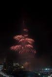 Fuegos artificiales del Año Nuevo de Dubai Foto de archivo