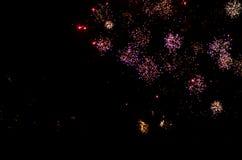 Fuegos artificiales del Año Nuevo en Berlín Imagenes de archivo