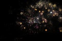 Fuegos artificiales del Año Nuevo en Berlín Imágenes de archivo libres de regalías