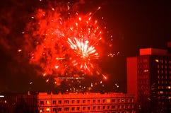 Fuegos artificiales del Año Nuevo en Berlín Fotografía de archivo