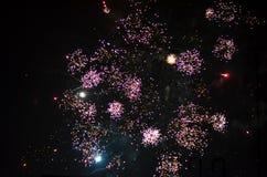 Fuegos artificiales del Año Nuevo en Berlín Fotografía de archivo libre de regalías