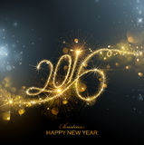 Fuegos artificiales del Año Nuevo 2016 Foto de archivo