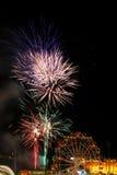 Fuegos artificiales del carnaval Imagen de archivo libre de regalías
