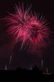 Fuegos artificiales del castillo de Praga Imagen de archivo libre de regalías
