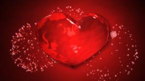 Fuegos artificiales del corazón almacen de metraje de vídeo