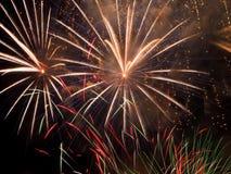 Fuegos artificiales del día de Canadá Fotos de archivo libres de regalías