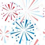Fuegos artificiales del día de fiesta Imagen de archivo libre de regalías