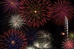 Fuegos artificiales del Día de la Independencia Fotografía de archivo