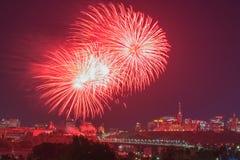 Fuegos artificiales del día de Ottawa Canadá Imágenes de archivo libres de regalías
