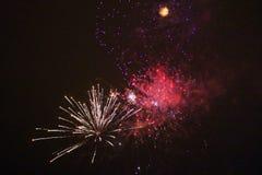 Fuegos artificiales del ` s del Año Nuevo en LuleÃ¥ Fotos de archivo libres de regalías