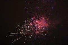 Fuegos artificiales del ` s del Año Nuevo en LuleÃ¥ Fotos de archivo