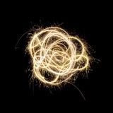 Fuegos artificiales del Sparkler Fotografía de archivo