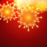 Fuegos artificiales del vector Fotografía de archivo