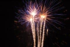 Fuegos artificiales eléctricos Fotografía de archivo libre de regalías