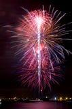 Fuegos artificiales eléctricos de las floraciones Imagen de archivo