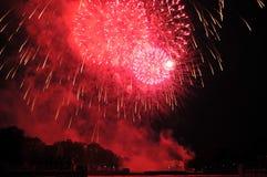 Fuegos artificiales el Día de la Independencia Imagen de archivo libre de regalías
