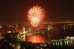 Fuegos artificiales el Día de la Independencia Foto de archivo libre de regalías