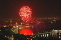 Fuegos artificiales el Día de la Independencia Imagen de archivo